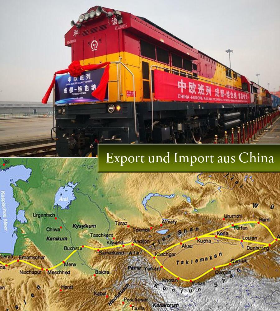Export und Import aus China